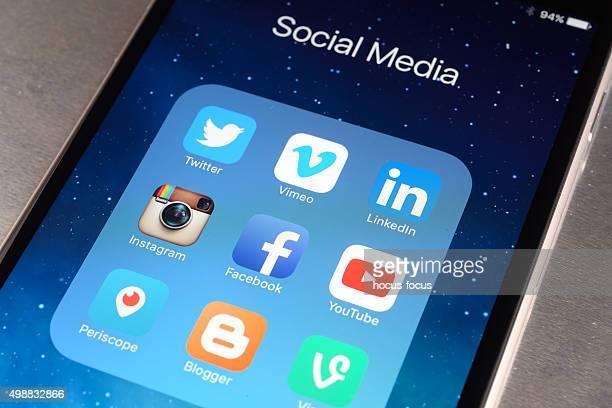 Les médias sociaux Apps sur iPhone 6 Plus