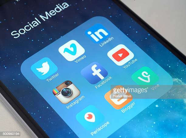 Social media apps on iPhone 6 Plus