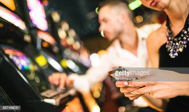 social media at casino - casino stock pictures, royalty-free photos & images