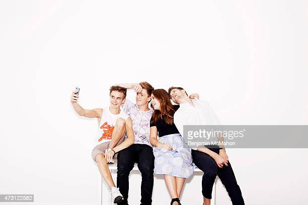 Social media bloggers Joe Sugg Casper Lee Tanya Burr and Jim Chapman are photographed for the Telegraph on July 29 2014 in London England