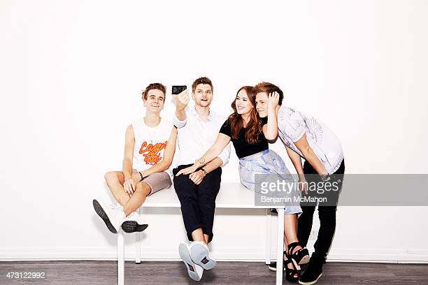 Social media bloggers Joe Sugg Jim Chapman Tanya Burr and Casper Lee are photographed for the Telegraph on July 29 2014 in London England