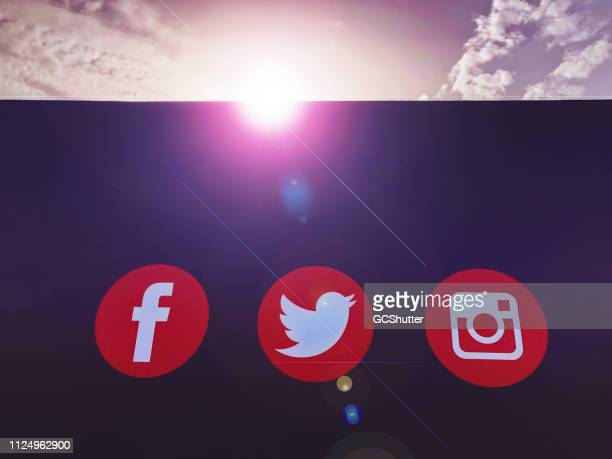 Social Media Channel Icons on the Board