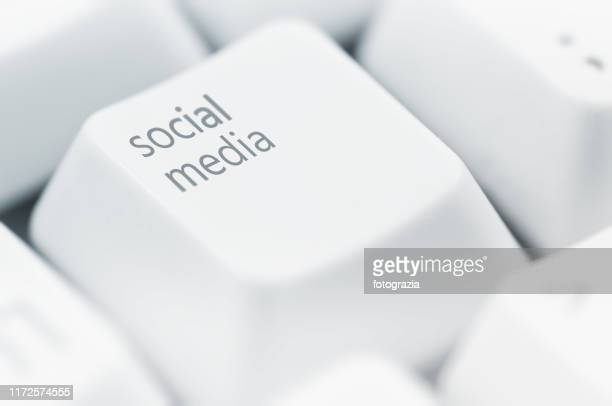 social media concept - social media icons stock pictures, royalty-free photos & images
