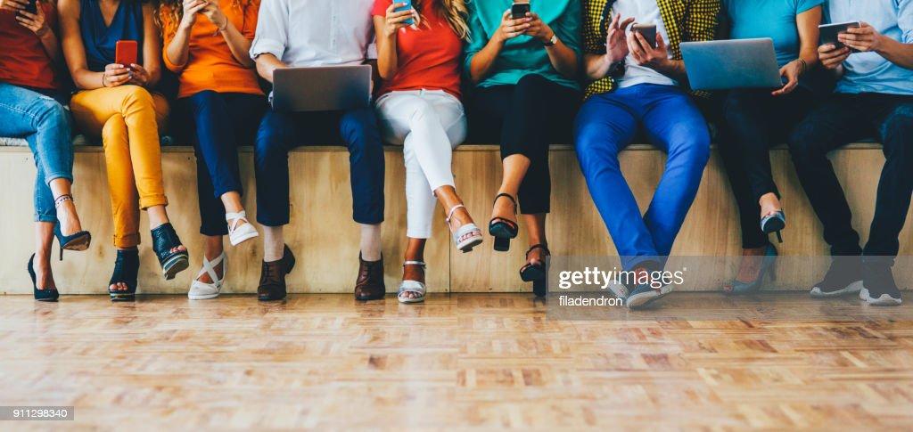 Sociale media concept : Stockfoto
