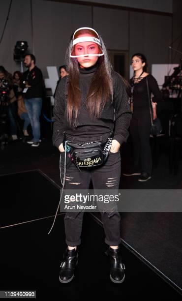 Social media content creator Raya Baqween attends Jordan Fashion Week 019 on March 30 2019 at the Kempinski Amman in Amman Jordan