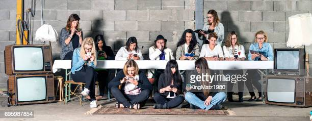 social media horror - the media stock photos and pictures