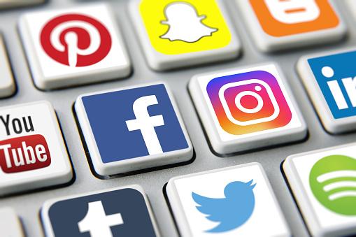 Social media icons internet app application 1136415038