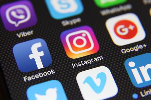 Social media icons internet app application 917142888