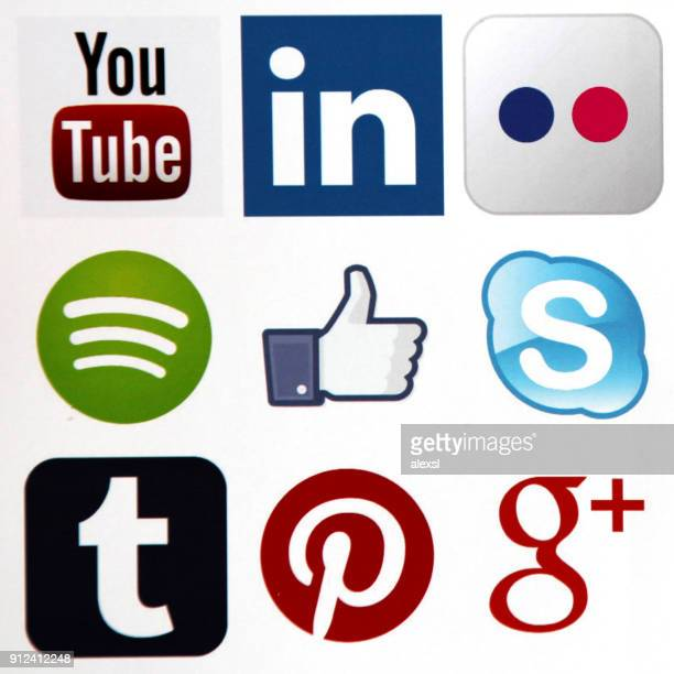 Social-Media Icons Internet mobile app-Anwendung