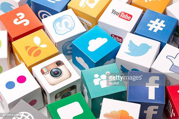 social media icons - de media stockfoto's en -beelden