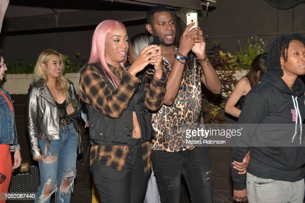 Social Media Influencer Khadi Don and Kelz Washington attend STARZ at Atlanta Pride 2018 at Piedmont Park on October 13 2018 in Atlanta Georgia