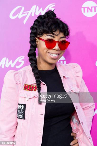 Social Media Influencer Khadi Don arrives for the Premiere Of TNT's Claws at the Harmony Gold Theatre on June 1 2017 in Los Angeles California