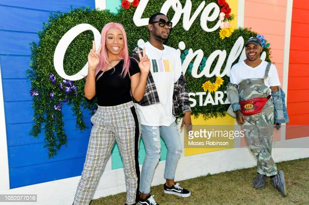 Social Media Influencer Khadi Don Kelz Washington and Shod Santiago attend STARZ at Atlanta Pride 2018 at Piedmont Park on October 13 2018 in Atlanta...