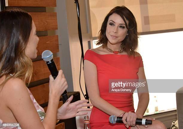 Social media influencer Lauren Elizabeth speaks onstage with social media inflluencer Shira Lazar during Vanity Fair Social Club's In Conversation...