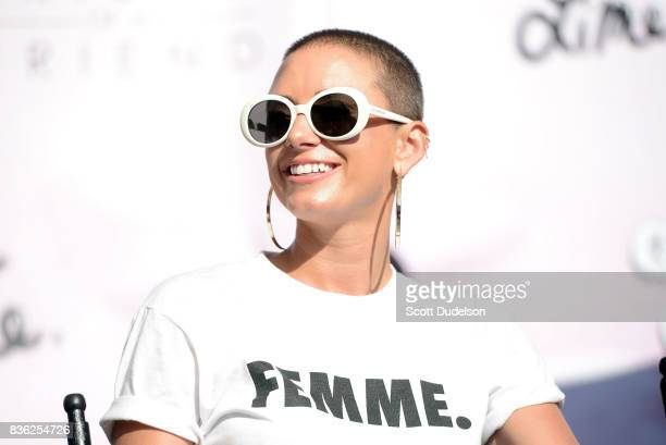 Social media influencer YesJulz appears onstage during the GIRL CULT festival at The Fonda Theatre on August 20 2017 in Los Angeles California