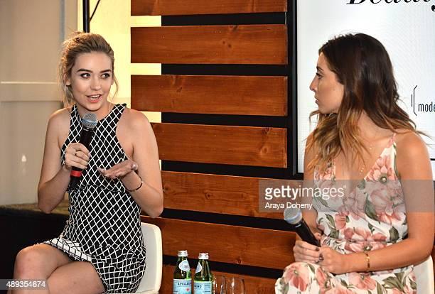 Social media influencers Amanda Steele and Lauren Elizabeth speak onstage during Vanity Fair Social Club's In Conversation with YouTube Stars Amanda...
