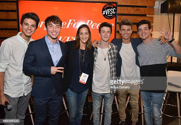 Social media influencers Brent Rivera Wesley Stromberg Vanity Fair's Associate Publisher Jenifer Berman social media influencers Crawford Collins...