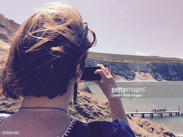 social media life - totland bay stock pictures, royalty-free photos & images