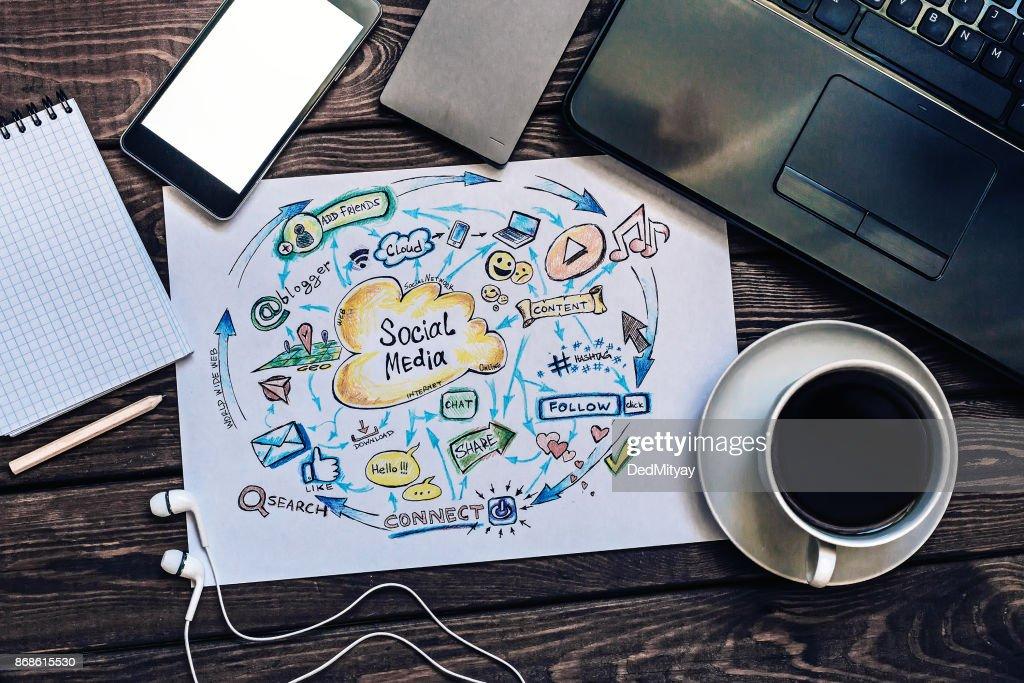 Social media marketing, Business, Technology, Internet : Stock Photo