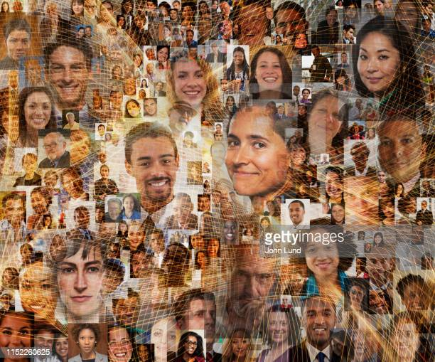 social media network connections - multiculturalism stock pictures, royalty-free photos & images