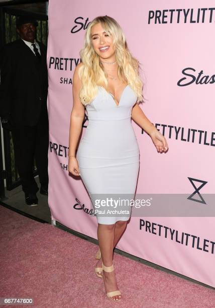 Social Media Personality Anastasia Karanikolaou attends the 'PrettyLittleThing' campaign launch on April 11 2017 in Los Angeles California