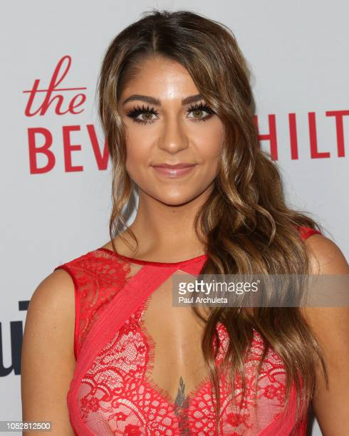 Social Media Personality Andrea Russett attends the 8th Annual Streamy Awards at The Beverly Hilton Hotel on October 22 2018 in Beverly Hills...