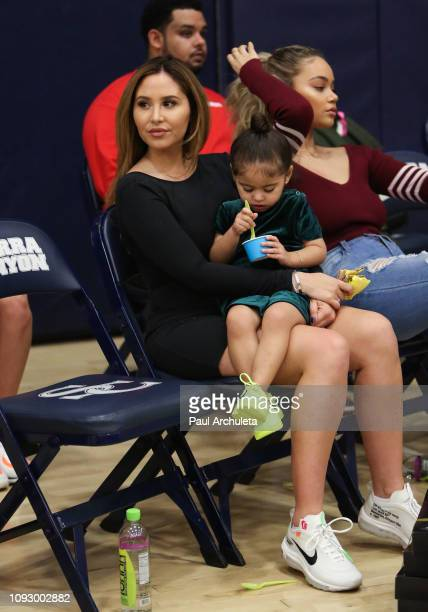 Social Media Personality Catherine Paiz attends the Ace Family celebrity basketball shootout for $100K at Sierra Canyon High School on January 11...