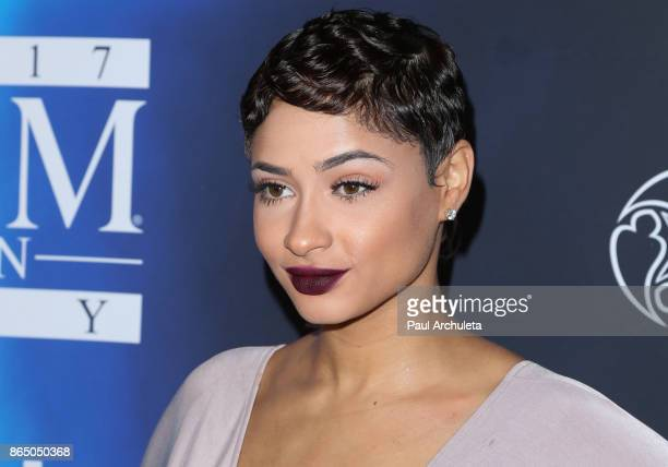 Social Media Personality / DJ Tori Hughes attends the 2017 Maxim Halloween party at Los Angeles Center Studios on October 21 2017 in Los Angeles...