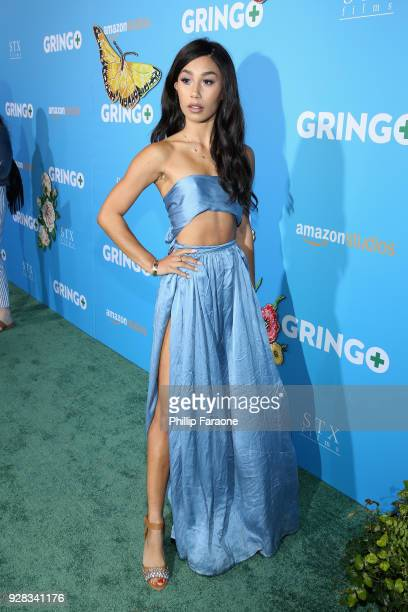 Social media personality Eva Gutowski attends the world premiere of 'Gringo' from Amazon Studios and STX Films at Regal LA Live Stadium 14 on March 6...