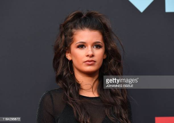 Social media personality Gianna Ferazi arrives for the 2019 MTV Video Music Awards at the Prudential Center in Newark New Jersey on August 26 2019