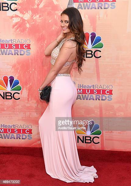Social media personality Hannah Stocking arrives at the 2015 iHeartRadio Music Awards at The Shrine Auditorium on March 29 2015 in Los Angeles...