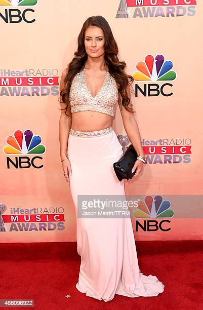 Social media personality Hannah Stocking attends the 2015 iHeartRadio Music Awards which broadcasted live on NBC from The Shrine Auditorium on March...