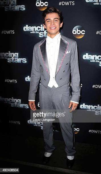 Social media personality Hayes Grier attends 'Dancing with the Stars' Season 21 at CBS Televison City on October 12 2015 in Los Angeles California