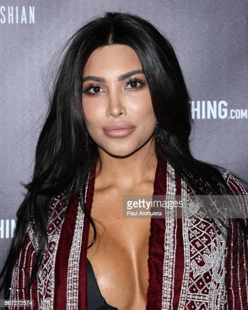 Social Media Personality Kami Osman attends the PrettyLittleThing by Kourtney Kardashian launch party on October 25 2017 in Los Angeles California