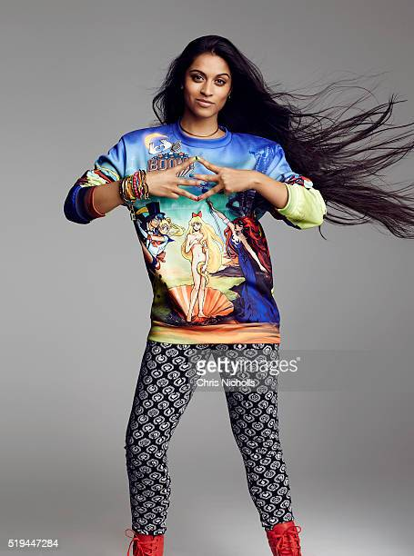Social media personality Lilly Singh is photographed for Elle Canada on December 16 2015 in Toronto Ontario