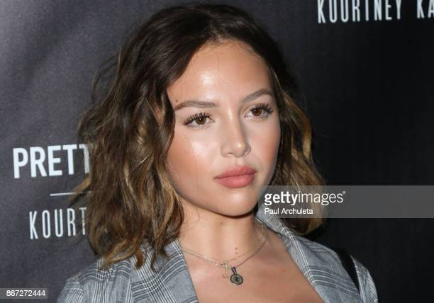 Social Media Personality Nathalie Paris attends the PrettyLittleThing by Kourtney Kardashian launch party on October 25 2017 in Los Angeles California