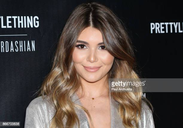 Social Media Personality Olivia Jade Giannulli attends the PrettyLittleThing by Kourtney Kardashian launch party on October 25 2017 in Los Angeles...