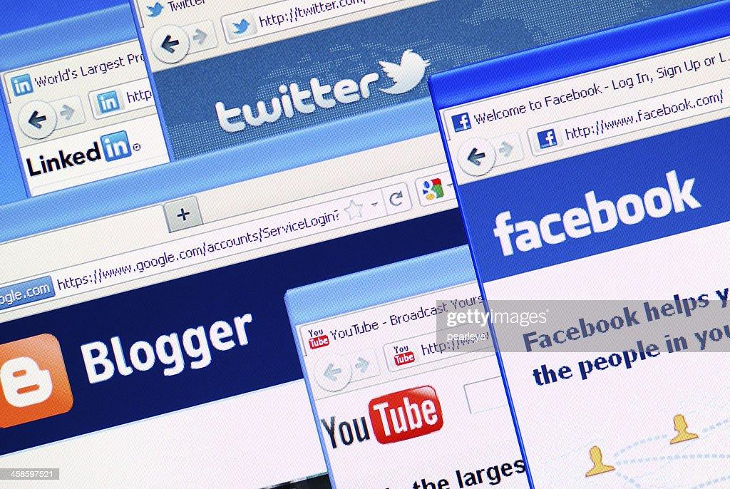 Medios sociales : Foto de stock