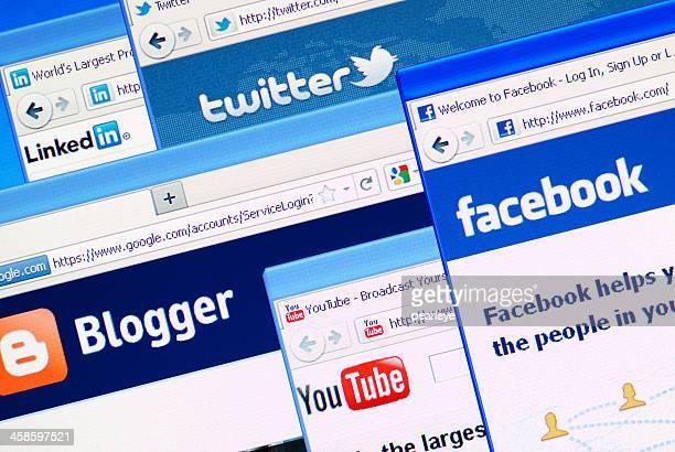 medios sociales - mensajería instantánea fotografías e imágenes de stock