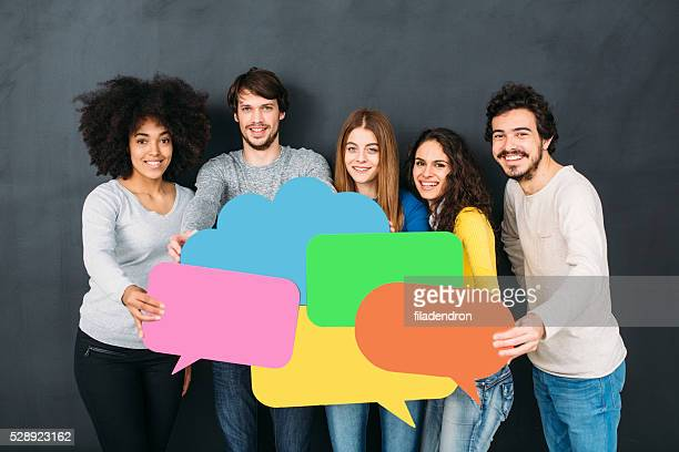 social media - media_(communication) stock pictures, royalty-free photos & images