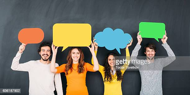 social media - group of objects stock photos and pictures