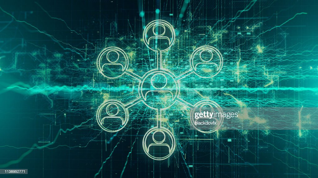 Social Media, Social Network Background Concept : Stock Photo