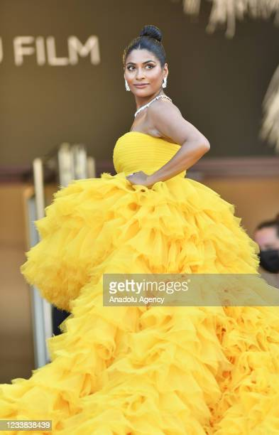 Social Media Star Farhana Bodi arrives for the screening of the film âAnnette' in competition and the Opening Ceremony of the 74th annual Cannes Film...