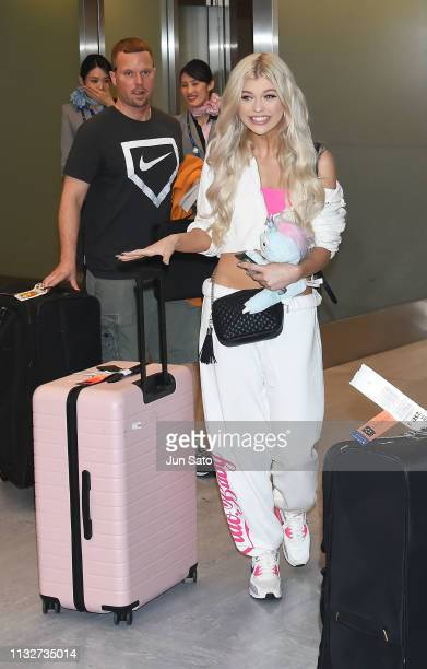Social media star Loren Gray is seen upon arrival at Narita International airport on March 25 2019 in Tokyo Japan