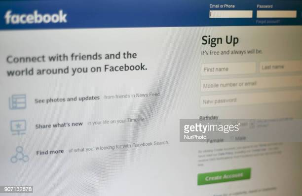 Social media website Facebook is seen in Manila Philippines on Friday 19 January 2018 Facebook is introducing changes to the posts that its more than...