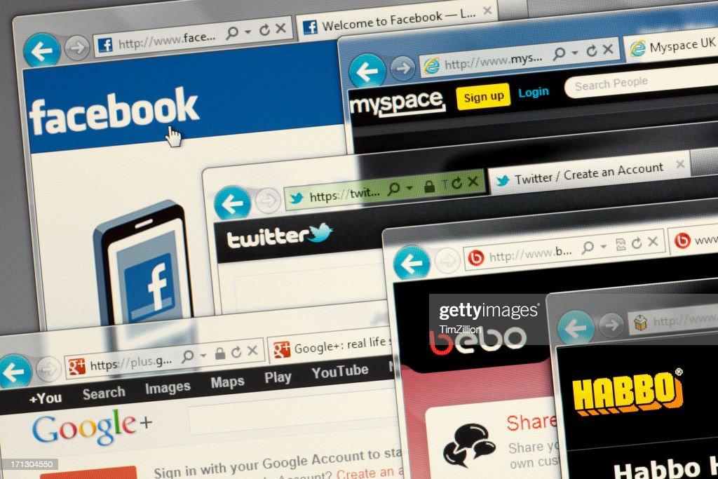 Social media websites only : Stock Photo