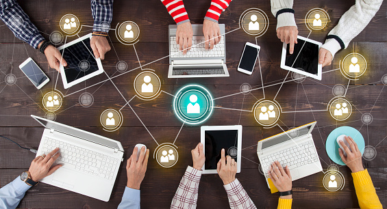 Social Network Online Sharing Connection Concept 1127997676
