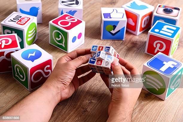 Social network puzzle cube