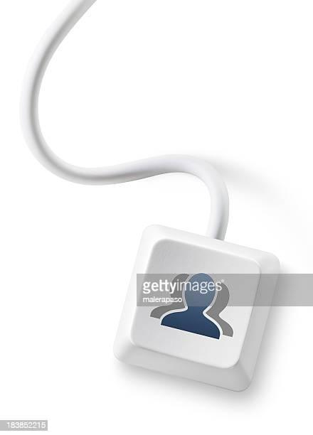 Social network users key.
