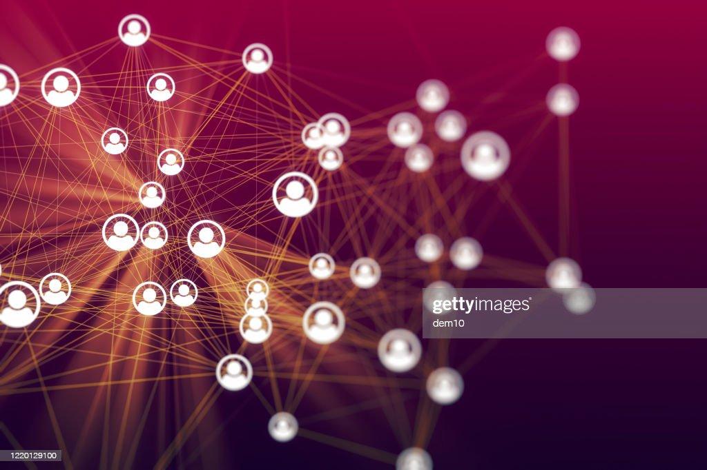 Social Networking oder Trennkonzept : Stock-Foto